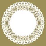 Ακονισμένο doily κύκλων εγγράφου δαντέλλα Στοκ εικόνα με δικαίωμα ελεύθερης χρήσης