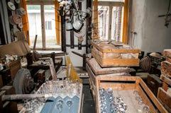 Ακονόλιθος σε manufactory Στοκ εικόνα με δικαίωμα ελεύθερης χρήσης