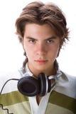 ακουστικά αγοριών Στοκ εικόνα με δικαίωμα ελεύθερης χρήσης