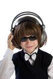 ακουστικά αγοριών Στοκ εικόνες με δικαίωμα ελεύθερης χρήσης