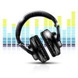 ακουστικά εξισωτών Στοκ εικόνες με δικαίωμα ελεύθερης χρήσης