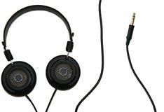 Ακουστικά και καλώδιο στοκ φωτογραφία με δικαίωμα ελεύθερης χρήσης