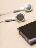 Ακουστικά και mp3 φορέας Στοκ Εικόνες
