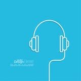 Ακουστικά με ένα καλώδιο Στοκ φωτογραφίες με δικαίωμα ελεύθερης χρήσης