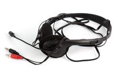 Ακουστικά με το μικρόφωνο Στοκ φωτογραφία με δικαίωμα ελεύθερης χρήσης