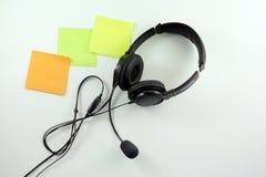 Ακουστικά με το μικρόφωνο Στοκ εικόνα με δικαίωμα ελεύθερης χρήσης