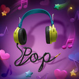 Ακουστικά μουσική ποπ Στοκ εικόνες με δικαίωμα ελεύθερης χρήσης