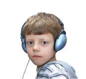 ακουστικά παιδιών σοβαρά Στοκ Εικόνες