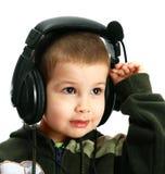ακουστικά παιδιών Στοκ φωτογραφία με δικαίωμα ελεύθερης χρήσης