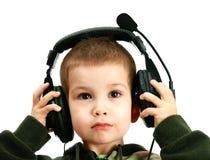 ακουστικά παιδιών Στοκ εικόνα με δικαίωμα ελεύθερης χρήσης