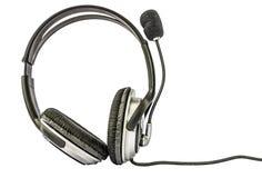 Ακουστικά που απομονώνονται Στοκ Φωτογραφία