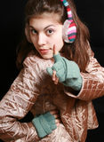 ακουστικά ριγωτά Στοκ φωτογραφία με δικαίωμα ελεύθερης χρήσης