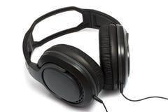 Ακουστικά στην άσπρη ανασκόπηση Στοκ εικόνες με δικαίωμα ελεύθερης χρήσης