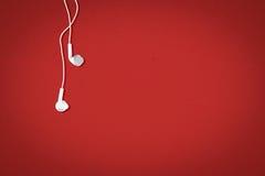 Ακουστικά στο υπόβαθρο Στοκ εικόνες με δικαίωμα ελεύθερης χρήσης