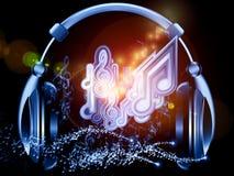 Ακουστικά της μουσικής Στοκ Εικόνες