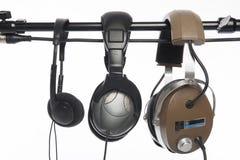 ακουστικά τρία Στοκ Φωτογραφίες