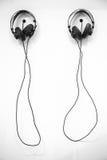 ακουστικά δύο Στοκ φωτογραφία με δικαίωμα ελεύθερης χρήσης