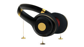 Ακουστικά Στοκ εικόνες με δικαίωμα ελεύθερης χρήσης