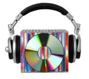 ακουστικά Compact-$l*Disk Στοκ εικόνα με δικαίωμα ελεύθερης χρήσης