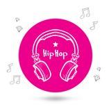 Ακουστικά doodle Στοκ Εικόνες
