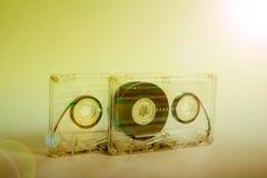 Ακουστικές κασέτες για το όργανο καταγραφής Στοκ Εικόνες