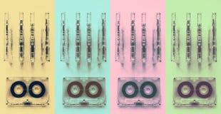 Ακουστικές κασέτες για το όργανο καταγραφής Στοκ φωτογραφία με δικαίωμα ελεύθερης χρήσης