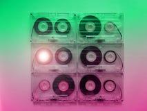Ακουστικές κασέτες για το όργανο καταγραφής Στοκ Φωτογραφία