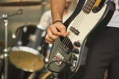 Ακουστικές πέρκες Playng Στοκ Φωτογραφία