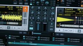 Ακουστική επίδειξη εξοπλισμού του DJ απόθεμα βίντεο