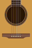 Ακουστική κιθάρα, λαϊκή κιθάρα Στοκ εικόνα με δικαίωμα ελεύθερης χρήσης