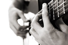 ακουστική κιθάρα χορδών μπαρών Στοκ Εικόνες