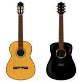 Ακουστική κιθάρα δύο σε ένα άσπρο υπόβαθρο επίσης corel σύρετε το διάνυσμα απεικόνισης Στοκ Φωτογραφία