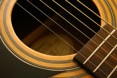 ακουστική κιθάρα Στοκ Φωτογραφίες