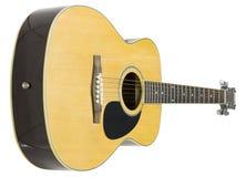 ακουστική λαϊκή κιθάρα ξύ&lambda στοκ εικόνα