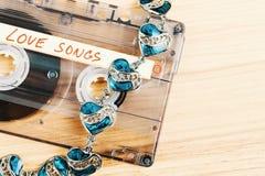 Ακουστική ταινία κασετών με τα ερωτικά τραγούδια Στοκ Εικόνες