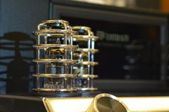 Ακουστικός ηλεκτρονικός κενός ενισχυτής σωλήνων Audiophile στοκ φωτογραφία