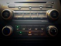 Ακουστικός κατώτατος πίνακας ελέγχου επίδειξης, ακουστικός κατώτατος έλεγχος Στοκ Εικόνες