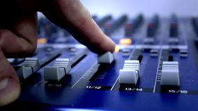 Ακουστικός υγιής πίνακας αναμικτών απόθεμα βίντεο