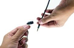 Ακουστικό λαβής χεριών Στοκ Εικόνες