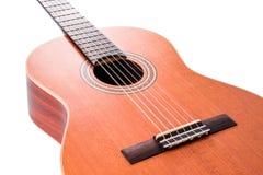ακουστικό ισπανικό ύφος κιθάρων λεπτομέρειας ανασκόπησης μαύρο κλασσικό Στοκ Φωτογραφία