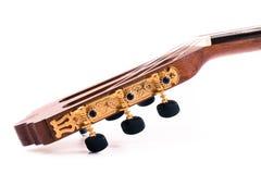 ακουστικό ισπανικό ύφος κιθάρων λεπτομέρειας ανασκόπησης μαύρο κλασσικό Στοκ εικόνες με δικαίωμα ελεύθερης χρήσης