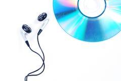 Ακουστικό και CD Στοκ εικόνες με δικαίωμα ελεύθερης χρήσης