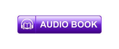 Ακουστικό κουμπί βιβλίων διανυσματική απεικόνιση