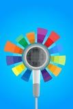 Ακουστικό με τον εξισωτή επίδρασης χρώματος διανυσματική απεικόνιση