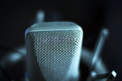 Ακουστικό μικρόφωνο φωνής στούντιο καταγραφής φωνητικό Στοκ Φωτογραφίες