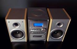 Ακουστικό συμπαγές συστατικό μίνι στερεοφωνικό σύστημα στοκ εικόνα με δικαίωμα ελεύθερης χρήσης