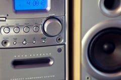 Ακουστικό συμπαγές συστατικό μίνι στερεοφωνικό σύστημα στοκ φωτογραφίες με δικαίωμα ελεύθερης χρήσης