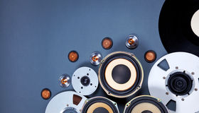 Ακουστικό υγιές σύνολο συλλογής αντικειμένων μέσων Στοκ Εικόνες
