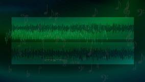 Ακουστικό υπόβαθρο διανυσματική απεικόνιση