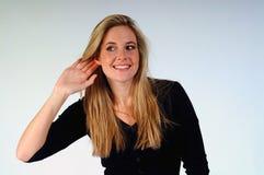 ακούοντας γυναίκα Στοκ εικόνα με δικαίωμα ελεύθερης χρήσης